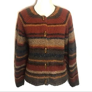 dressbarn wool ethnic boho tribal hippie cardigan